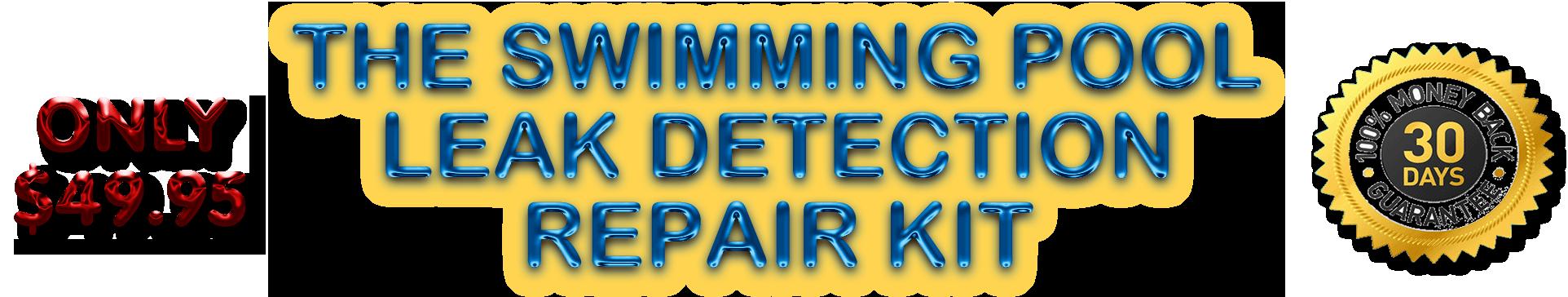 Swimming Pool Leak Detection And Dye Testing Kit